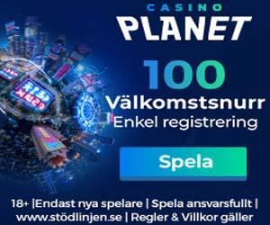 Spela casino hos Casino Planet