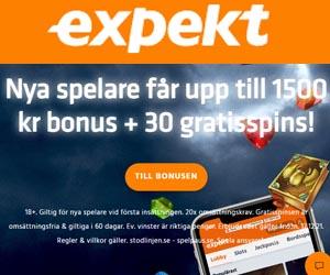 free spins eller gratis bonus hos Expekt Casino