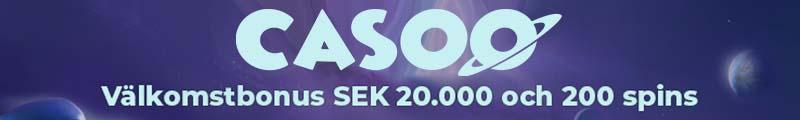 casoo gratis slot bonus och free spins