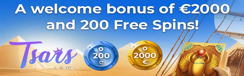 tsars casino slot bonus och free spins