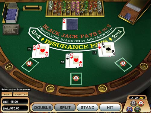 Blackjack - Single Deck MH - Casumo Casino