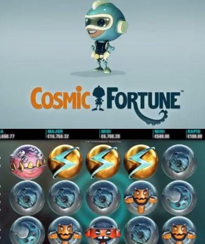 Läs mer om att NetEnts Cosmic Fortune slot med fem jackpottar snart online