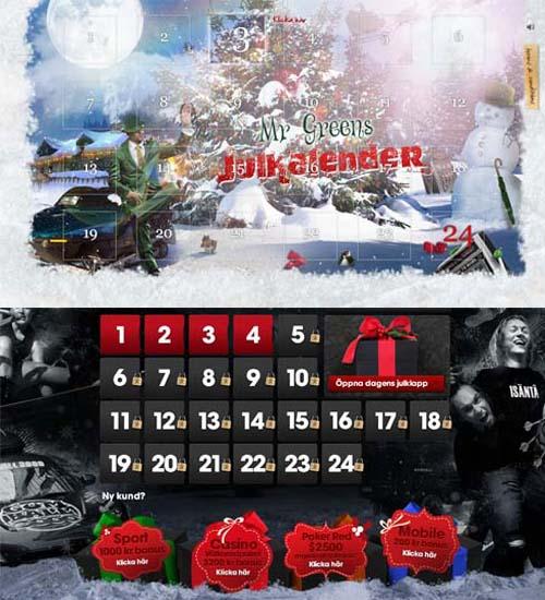 Läs mer om att 2012 års casino julkalendrar