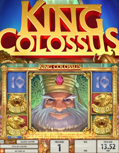 Läs mer om att Kolossala vinster med King Colossus slot från Quickspin