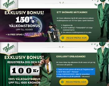 Läs mer om att Exklusiva bonusar hos Mr Green casino