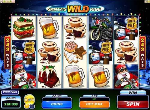 Läs mer om att Santa's Wild Ride slot med jultema