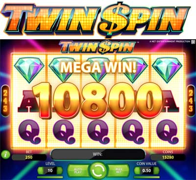 Twin Spin slot från Net Entertainment
