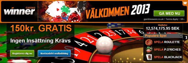 Läs mer om att Winner Casino ger dig 150 kronor gratis