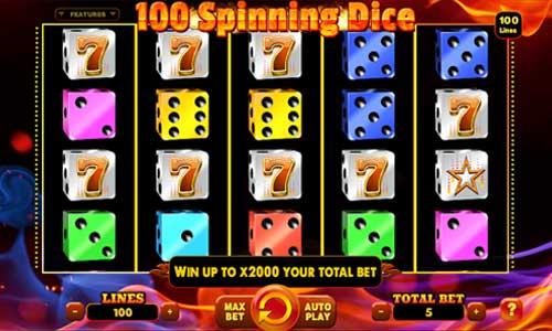 100 Spinning Dice videoslot