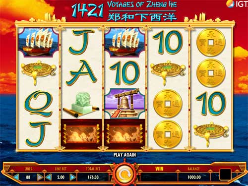 1421 Voyages of Zheng He free slot