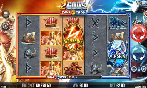 2 Gods Zeus vs Thor videoslot