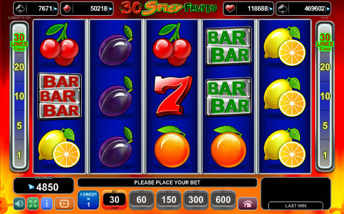 30 Spicy Fruits Slot Machine - Play Online for Free Now