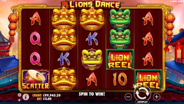 5 Lions Dance videoslot