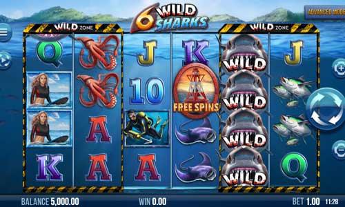 6 Wild Sharks videoslot
