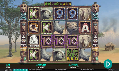 Africa Goes Wild videoslot