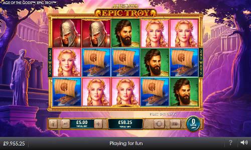 Age of the Gods Epic Troy slot