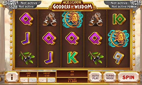 Age of the Gods Goddess of Wisdom videoslot