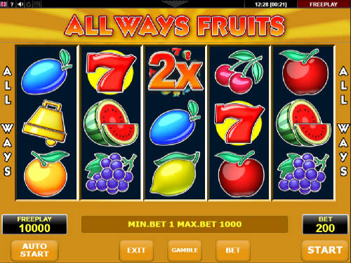 Allways Fruits videoslot