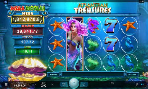 Atlantean Treasures Mega Moolah videoslot