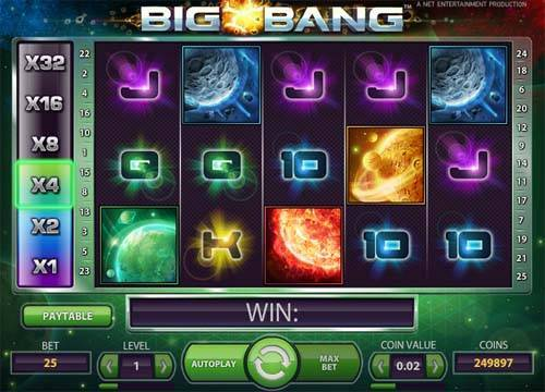 Big Bang videoslot