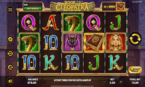 Book of Cleopatra Super Stake videoslot