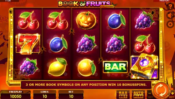 Book of Fruits Halloween videoslot