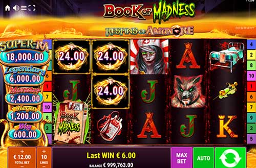Book of Madness Respins of AmunRe slot