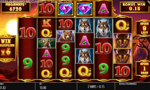 Buffalo Rising Megaways All Action slot