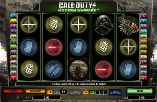 Call of Duty 4 slot