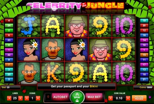 Celebrity in the Jungle free slot