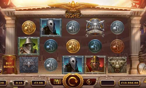 Champions of Rome videoslot