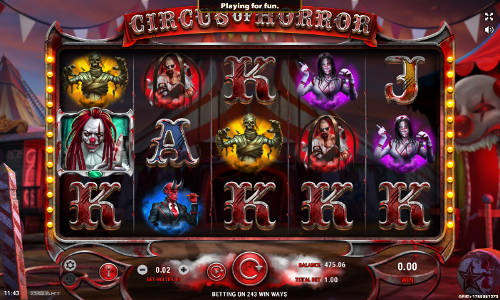 Circus of Horror videoslot