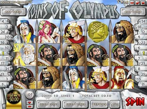 Coins of Olympus videoslot
