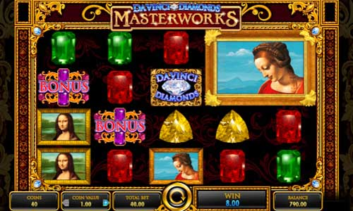 Da Vinci Diamonds Masterworks free slot