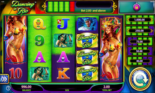 Dancing in Rio free slot