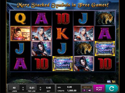 Dangerous Beauty free slot