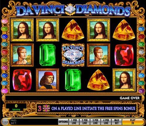 Da Vinci Diamonds free slot