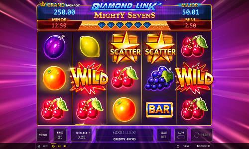 Diamond Link Mighty Sevens slot