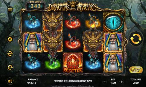 Dragons and Magic videoslot