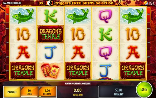 Dragons Temple free slot