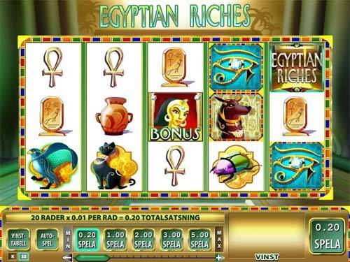 Egyptian Riches videoslot