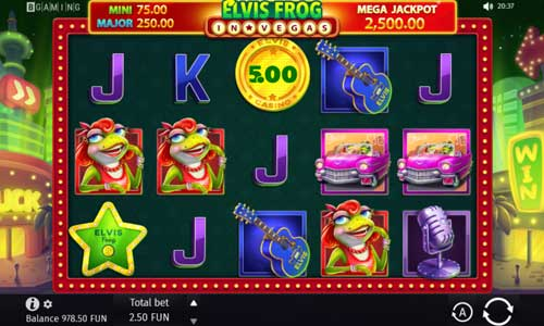 Elvis Frog in Vegas videoslot