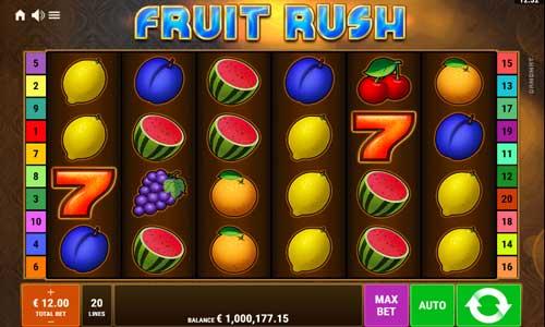 Fruit Rush videoslot