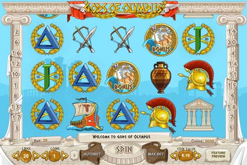 Gods of Olympus free slot