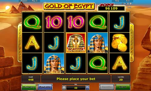 Gold of Egypt videoslot
