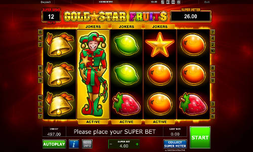 Gold Star Fruits videoslot