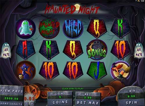 Haunted Night videoslot