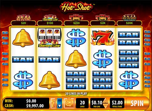 Hot Shot Progressive Blazing 7s casino slot