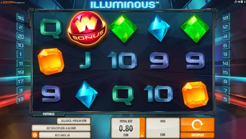 Illuminous free slot