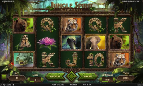 Jungle Spirit Call of the Wild videoslot